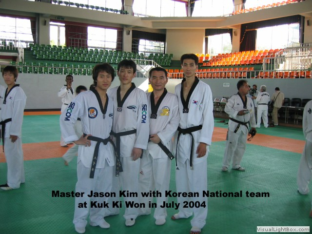 Master Kim with Korean National team Male